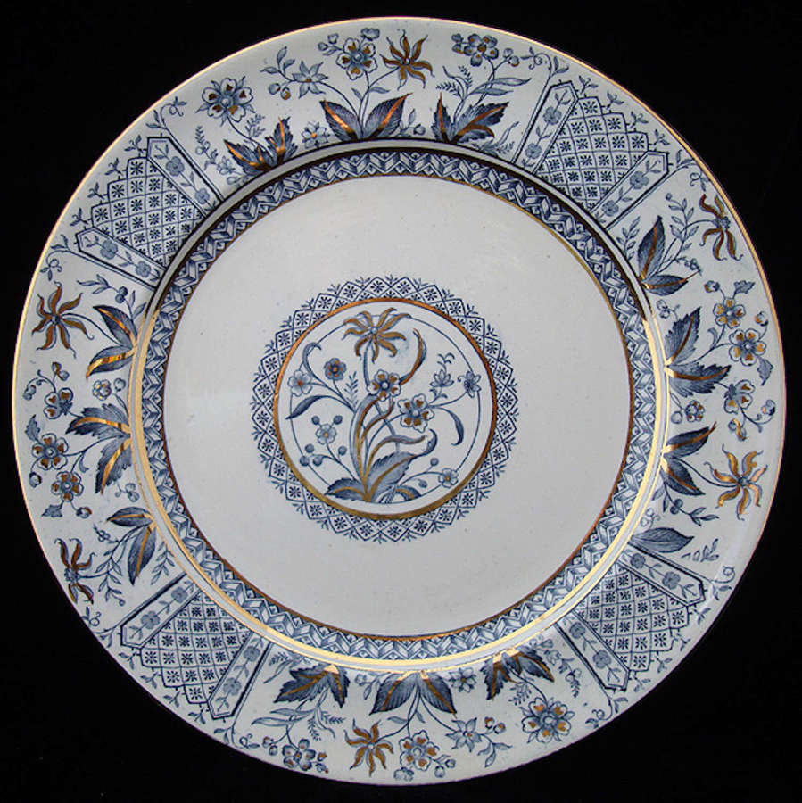 Large Antique Victorian Transfer Plate ~ NORMAN 1875