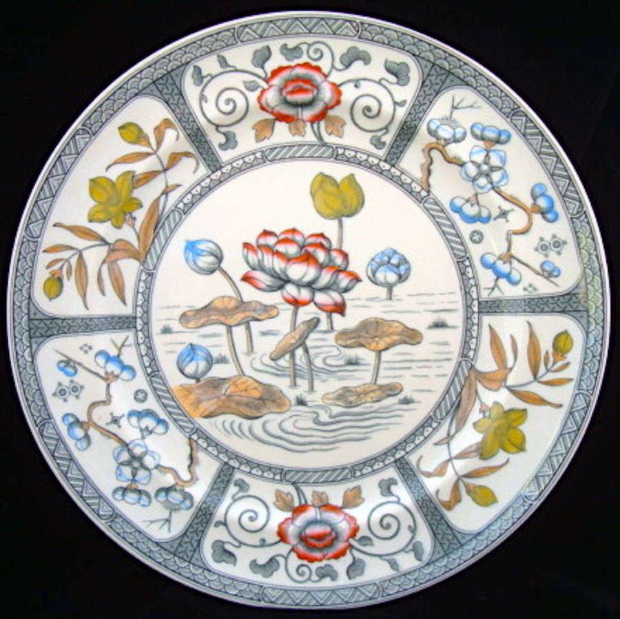 Polychrome Transferware Plate ~ JAPAN 1883