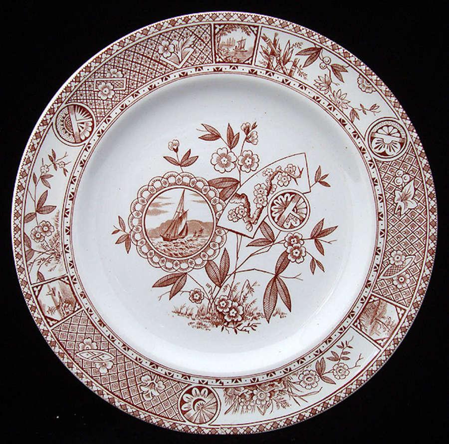 English Ironstone Transferware Plate ~ SITKA 1885