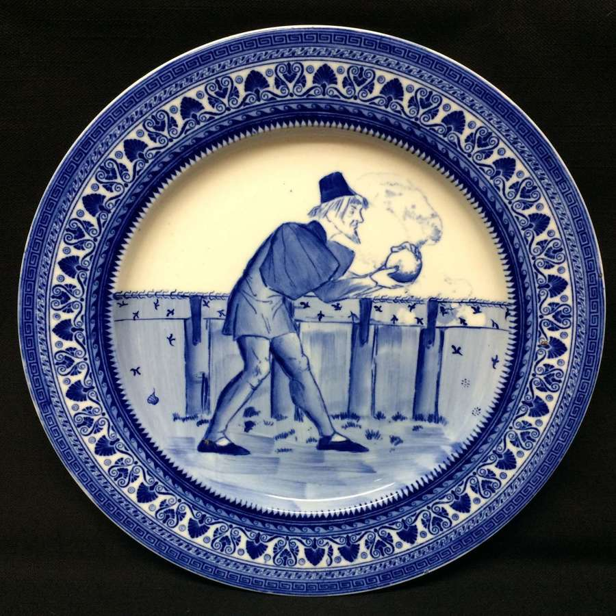 1900 ~ Rare Copeland Cabinet Plate ~ Lawn Bowling Bocci 1900